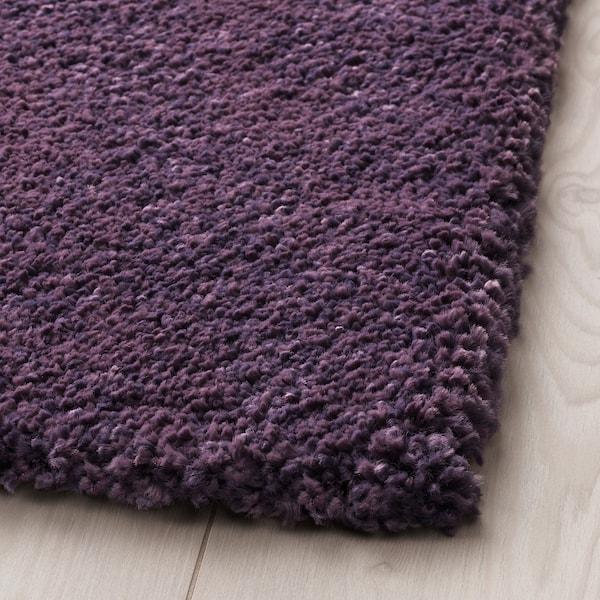 STOENSE Rug, low pile, purple, 133x195 cm