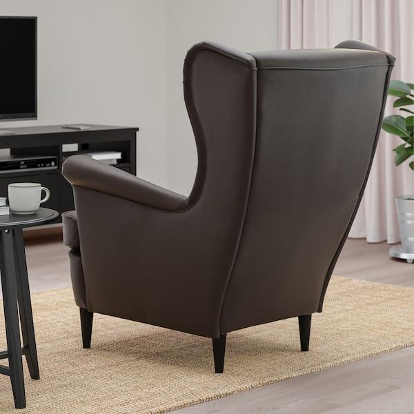 STRANDMON Wing chair, Grann/Bomstad dark brown