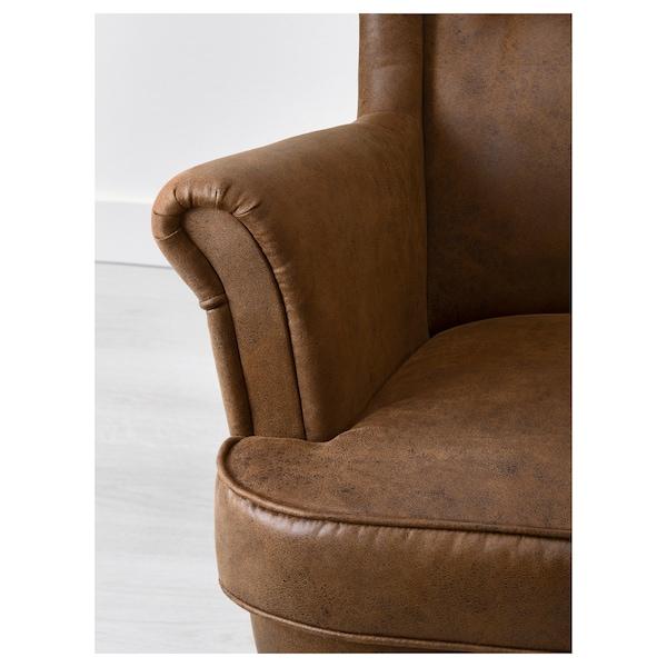 STRANDMON wing chair Järstad brown 82 cm 96 cm 101 cm 49 cm 54 cm 45 cm
