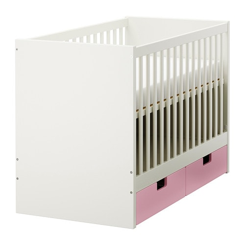 STUVA Cot with drawers IKEA The cot base can be placed at two different heights.
