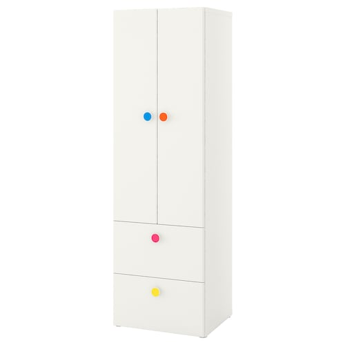STUVA / FÖLJA wardrobe with 2 doors+2 drawers white 60 cm 50 cm 192 cm