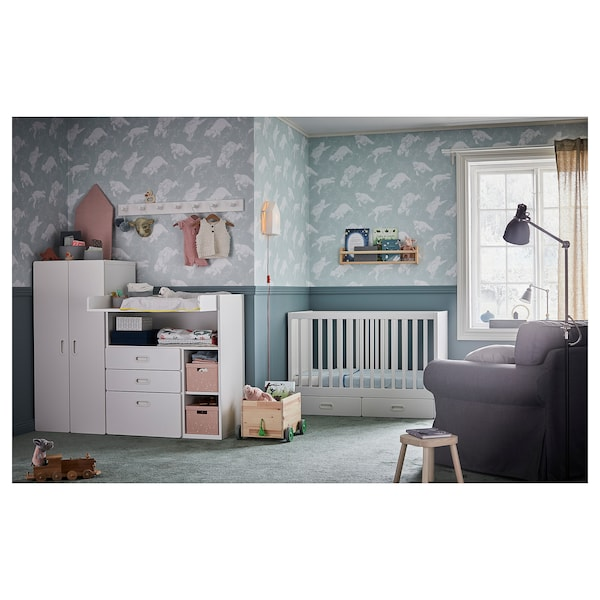 IKEA STUVA / FRITIDS Cot with drawers