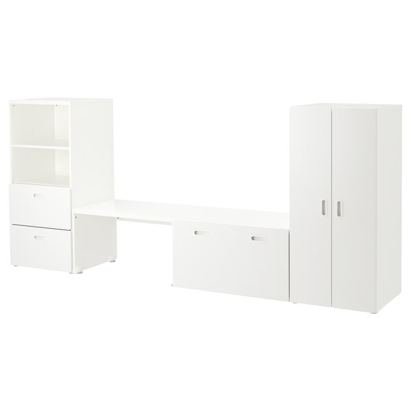 STUVA / FRITIDS storage combination white/white 300 cm 50 cm 128 cm