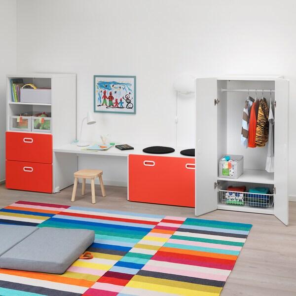 STUVA / FRITIDS storage combination white/red 300 cm 50 cm 128 cm