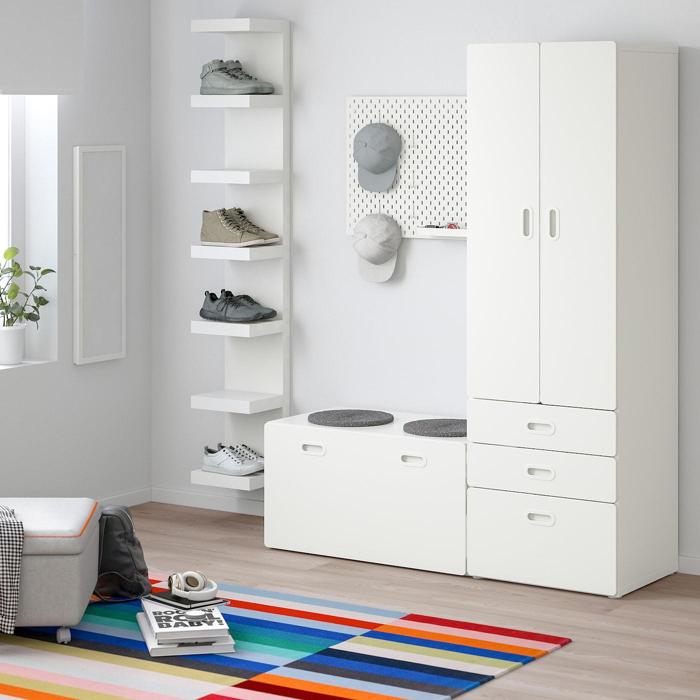Wardrobe With Storage Bench Stuva Fritids White White