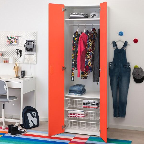 STUVA / FRITIDS wardrobe white/red 60 cm 50 cm 192 cm