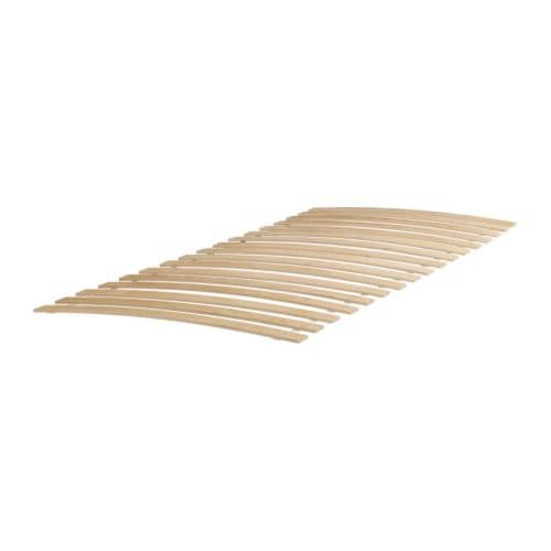 SULTAN LURÖY Slatted bed base IKEA 17 slats of layer-glued birch provide support for your body.