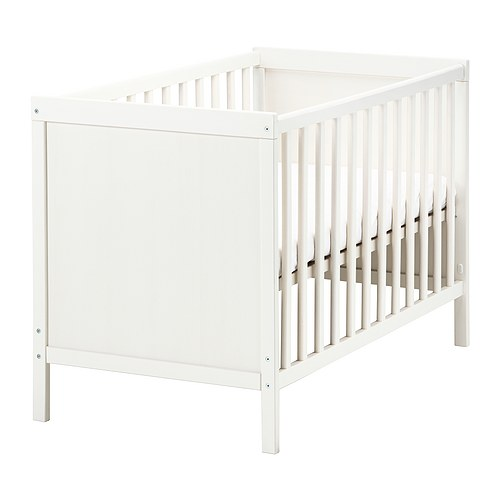 SUNDVIK Cot IKEA One bed side can be removed when the child is big enough to climb into/out of the bed.