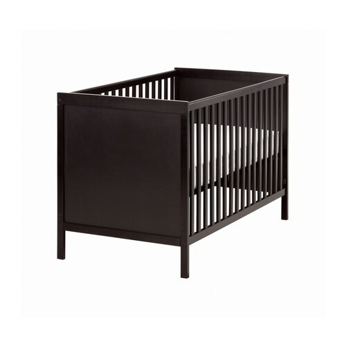 SUNDVIK Cot IKEA The bed base can be placed at two different heights.