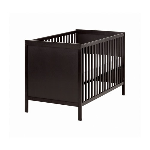 SUNDVIK Cot IKEA The cot base can be placed at two different heights.