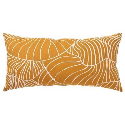 SVAMPMAL Cushion, dark yellow/white, 30x58 cm