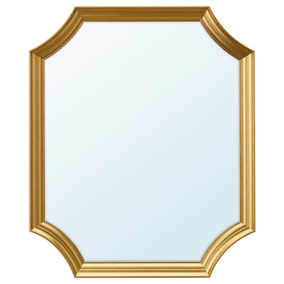 SVANSELE مرآة, لون ذهبي, 53x63 سم