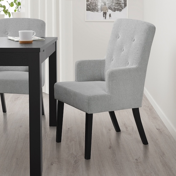 SVENARNE chair with armrests Tallmyra white/black 100 kg 59 cm 69 cm 99 cm 59 cm 45 cm 49 cm