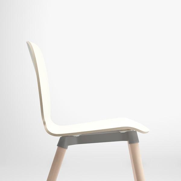 SVENBERTIL كرسي, أبيض/Ernfrid بتولا