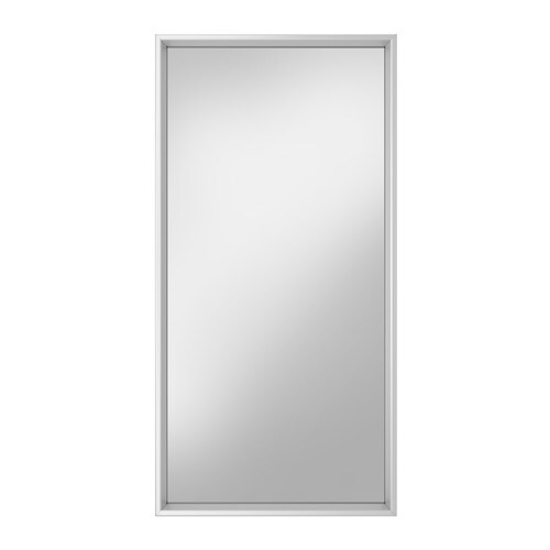 SVENSBY Mirror IKEA Can be hung horizontally or vertically.  Provided with safety film - reduces damage if glass is broken.