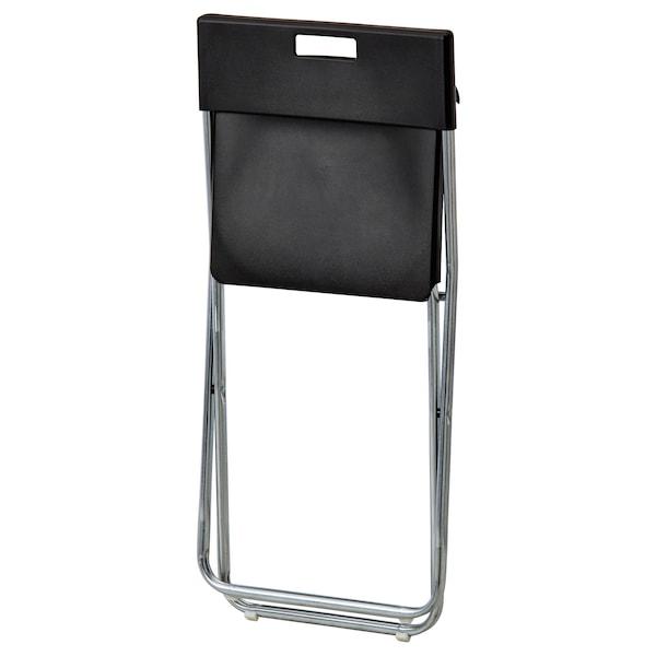 TÄRENDÖ / GUNDE طاولة و4 كراسي, أسود, 110 سم