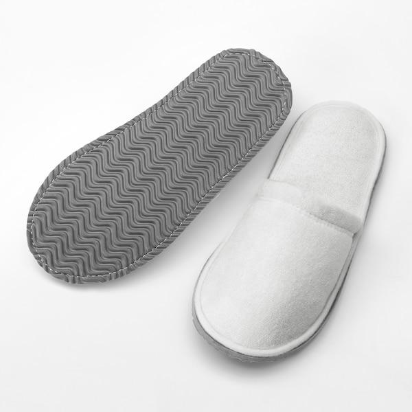 TÅSJÖN Slippers, white, L/XL