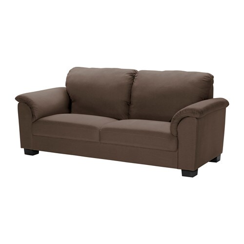 TIDAFORS Three-seat sofa IKEA The high back gives good support for your neck and head.
