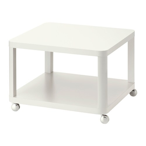 TINGBY Side table on castors, white