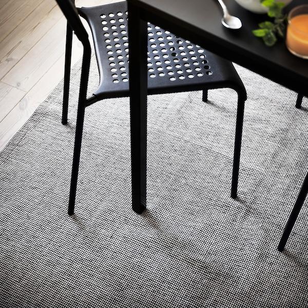 TIPHEDE سجاد، غزل مسطح, أسود/طبيعي, 155x220 سم