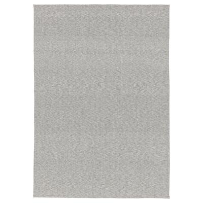 TIPHEDE سجاد، غزل مسطح, رمادي/أبيض, 155x220 سم