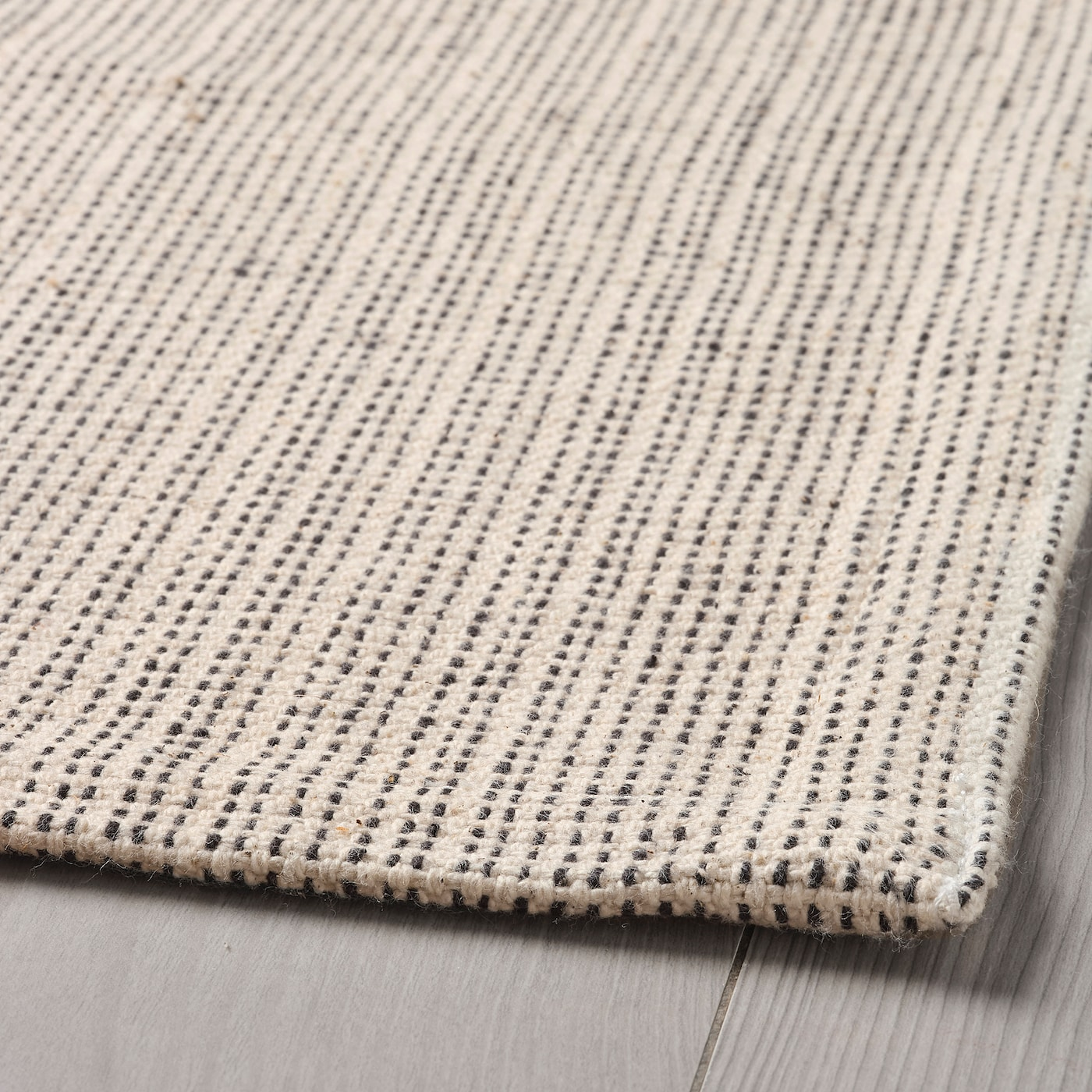 TIPHEDE Rug, flatwoven - natural/off-white 3x3 cm