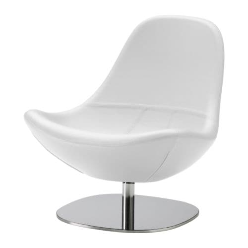 Sale alerts for Ikea TIRUP Swivel armchair, Kavat white - Covvet
