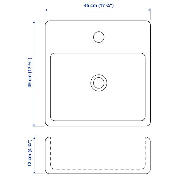 TÖRNVIKEN Countertop wash-basin, white, 45x45 cm
