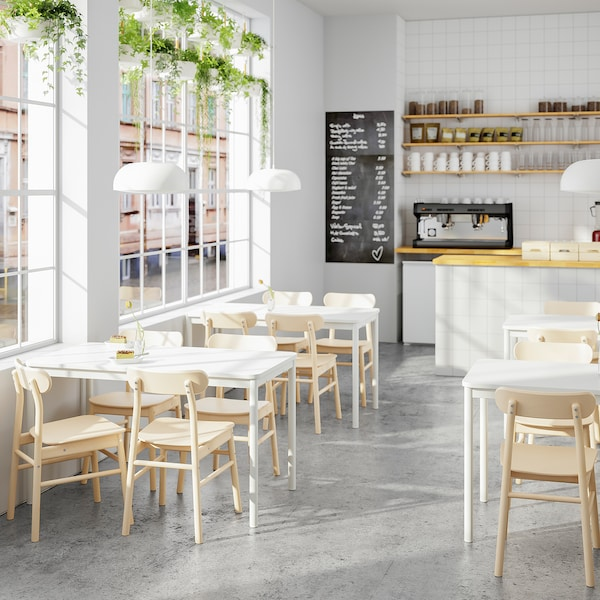 TOMMARYD طاولة, أبيض, 130x70 سم