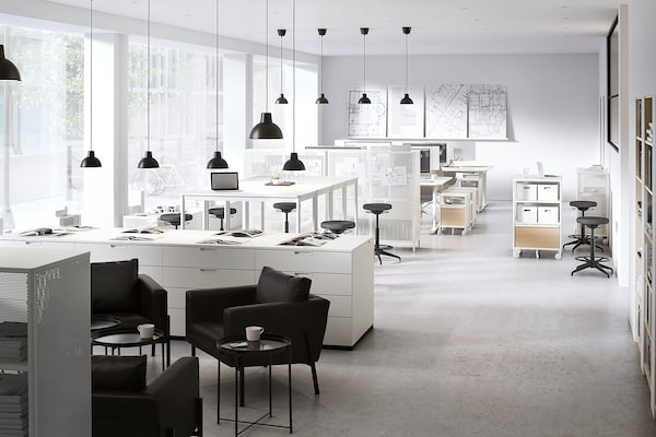 TOMMARYD طاولة, أبيض, 130x70x105 سم