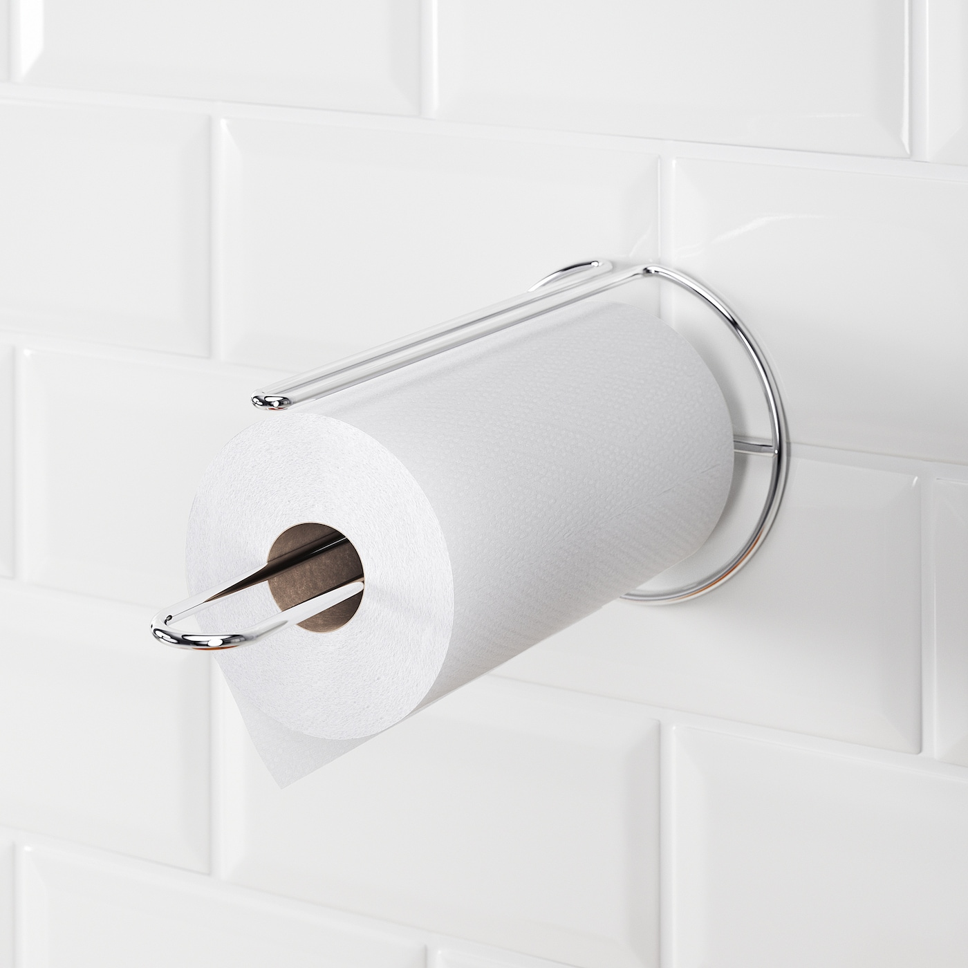 TORKAD Kitchen roll holder - silver-colour