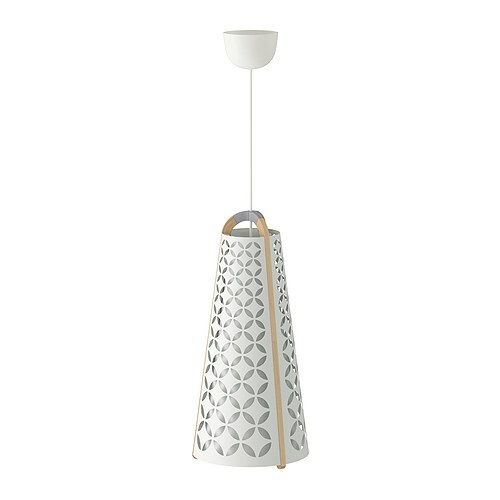 TORNA Pendant lamp IKEA Provides directed and general light and is great for brightening up your dining table.
