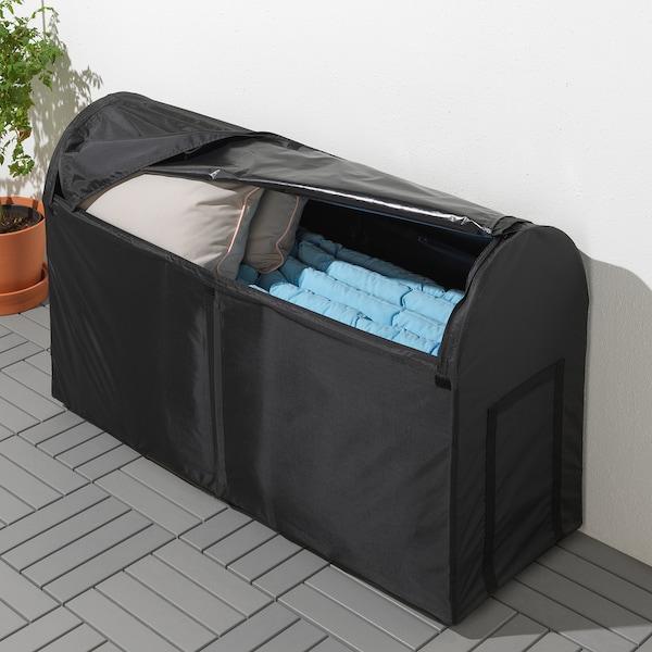 TOSTERÖ صندوق تخزين، خارجي, أسود, 129x44x79 سم