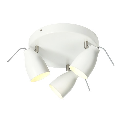 TRÅL Ceiling spotlight with 3 spots IKEA Adjustable spotlights.
