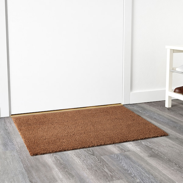 TRAMPA Door mat, natural, 60x90 cm