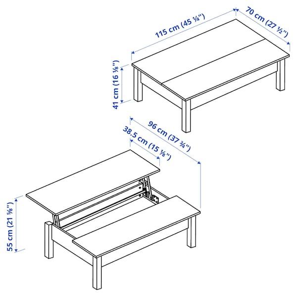 TRULSTORP Coffee table, black-brown, 115x70 cm