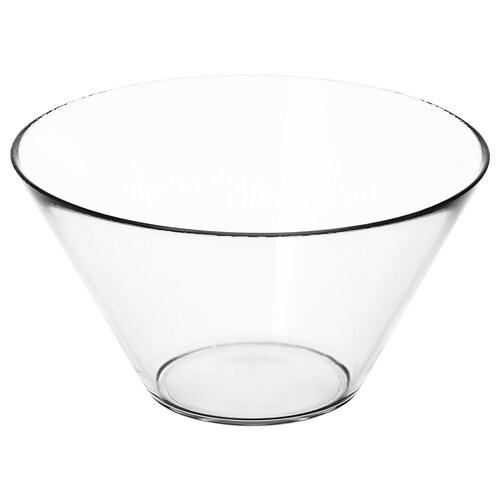 TRYGG serving bowl clear glass 15 cm 28 cm