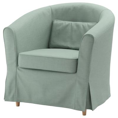 TULLSTA كرسي بذراعين, Nordvalla أخضر فاتح