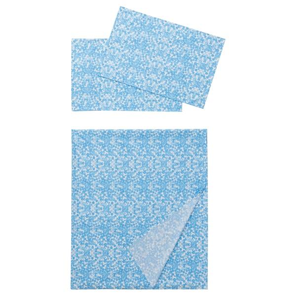 TURKNÄVA Flat sheet and 2 pillowcase, blue, 240x260x50x80 cm