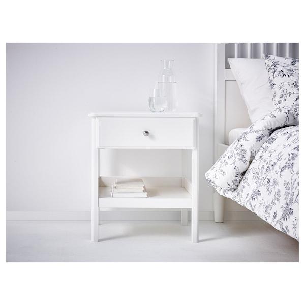 TYSSEDAL طاولة سرير جانبية, أبيض, 51x40 سم