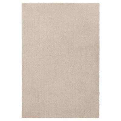 TYVELSE سجاد، وبر قصير, أبيض-عاجي, 133x195 سم