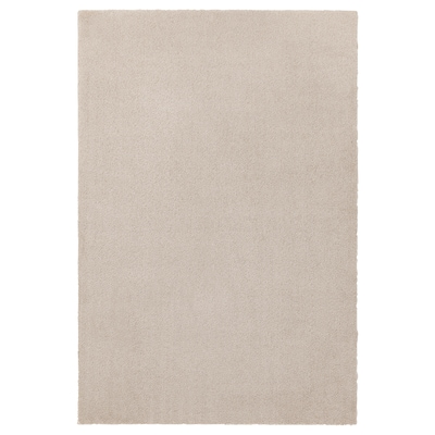 TYVELSE Rug, low pile, off-white, 133x195 cm