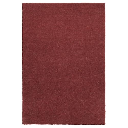 TYVELSE rug, low pile dark red 195 cm 133 cm 14 mm 2.59 m² 3000 g/m² 1880 g/m² 13 mm