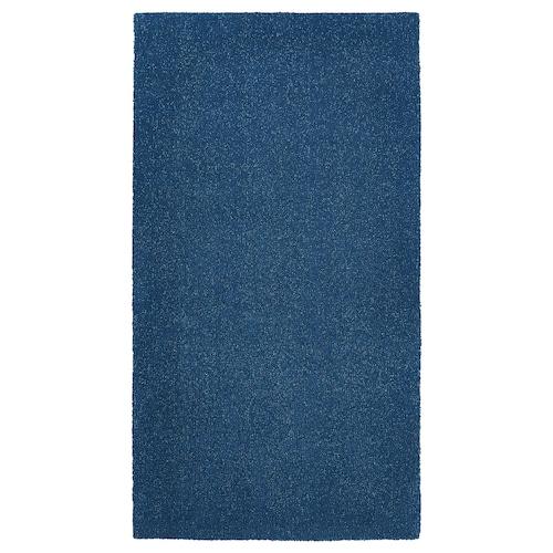 TYVELSE rug, low pile dark blue 150 cm 80 cm 14 mm 1.20 m² 3000 g/m² 1880 g/m² 13 mm