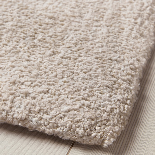 TYVELSE rug, low pile off-white 195 cm 133 cm 14 mm 2.59 m² 3000 g/m² 1880 g/m² 13 mm