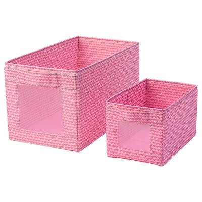 UPPRYMD صندوق طقم من 2, زهري