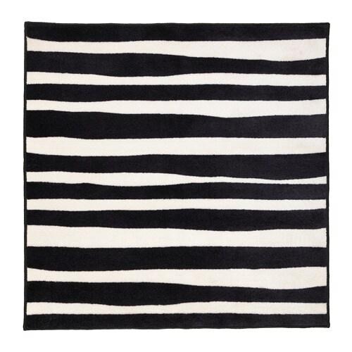 Urskog rug low pile ikea for Zebra rug ikea