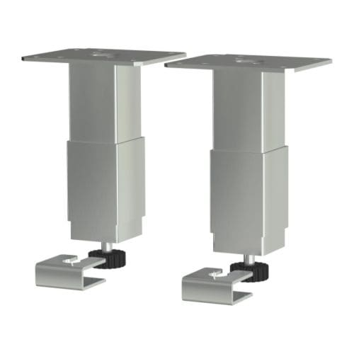 UTBY Leg IKEA Adjustable legs; stands steady on uneven surfaces too.