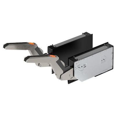 UTRUSTA مفصلة مع آلية فتح بالضغط لباب أفقي, أسود