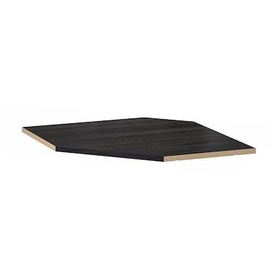 UTRUSTA رف لخزانة حائط زاوية, مظهر الخشب أسود, 68 سم
